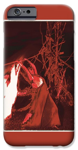 The Tiger iPhone Cases - Fire Dance / 1 iPhone Case by Jean-Marie Bottequin