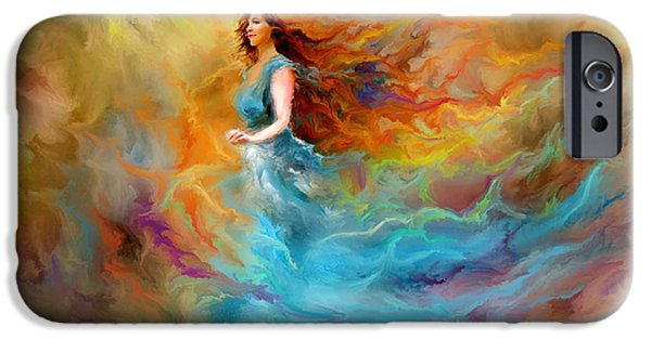 Figures iPhone Cases - Fire Dancer iPhone Case by Patricia Lintner