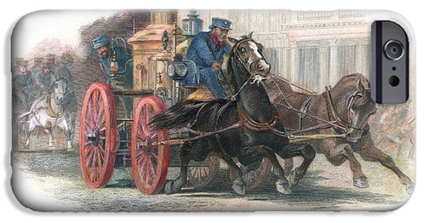 1870 iPhone Cases - FIRE ENGINE, c1870 iPhone Case by Granger