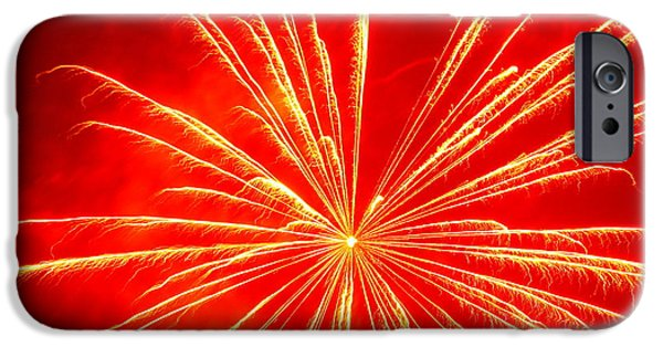 Fourth Of July iPhone Cases - Fire Fingers iPhone Case by Christina McKinney