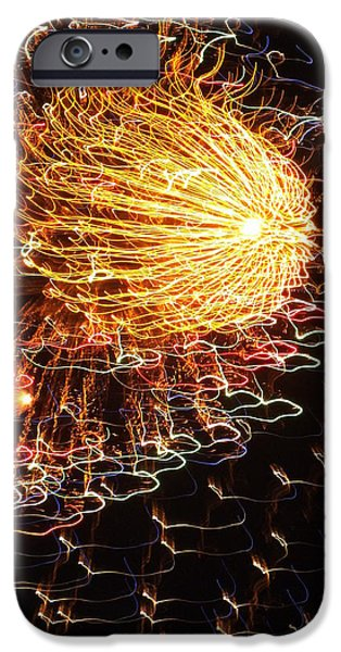 4th July iPhone Cases - Fire Flower iPhone Case by Karen Wiles