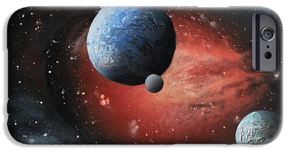 Stellar iPhone Cases - Fire Galaxy iPhone Case by Alisa Amor