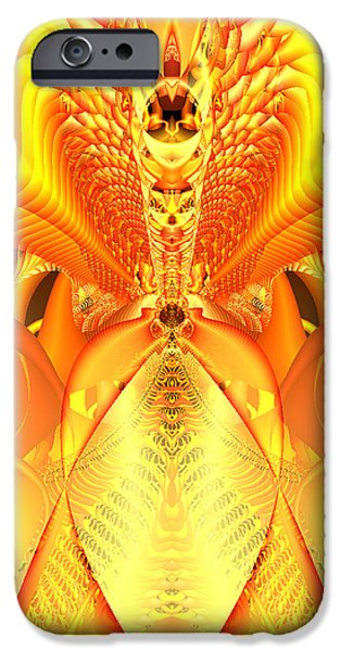 Gina Lee Manley iPhone Cases - Fire Goddess iPhone Case by Gina Lee Manley