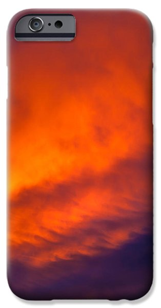Fiery iPhone Cases - Fire In The Belly iPhone Case by Az Jackson