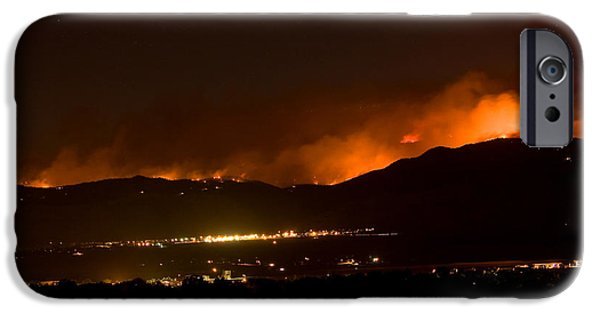 Wildfire iPhone Cases - Fire In The Mountains No Lightning in The Air  iPhone Case by James BO  Insogna