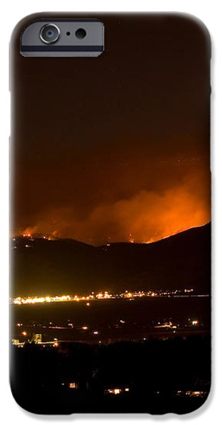 Fire In The Mountains No Lightning in The Air  iPhone Case by James BO  Insogna