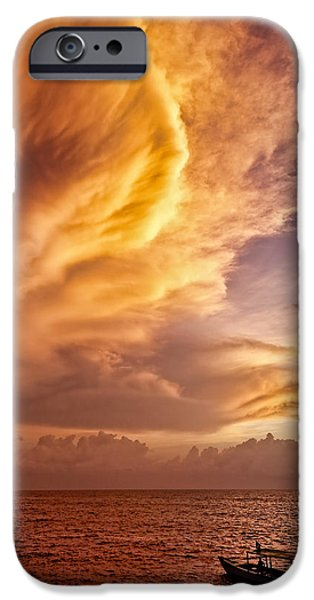Fire in the Sky iPhone Case by Dave Bowman