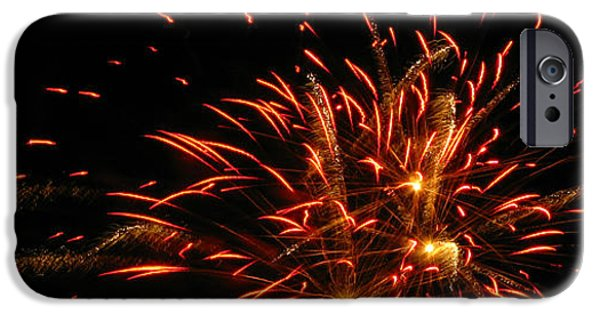 4th Of July iPhone Cases - Fire in the Sky iPhone Case by M E Cieplinski