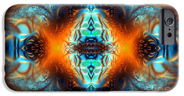 Geometric Artwork iPhone Cases - Fire Of Desire iPhone Case by Ian Mitchell