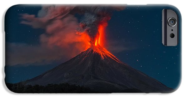 Fury iPhone Cases - Fire Pillar iPhone Case by Osiris Ocampo