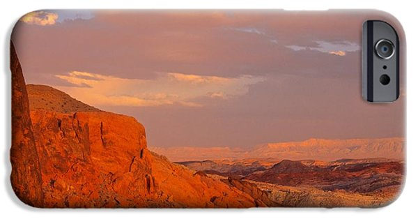 Red Rock iPhone Cases - Fire Valley iPhone Case by Lenore Holt-Darcy