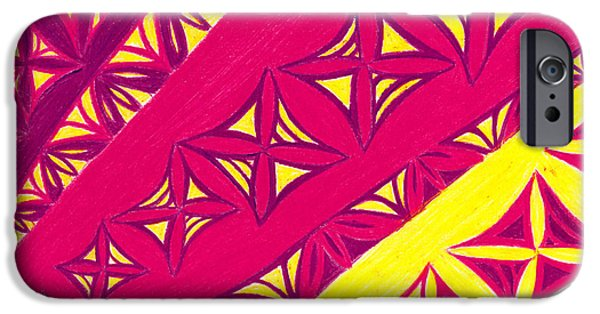 Abtracts iPhone Cases - Fire Velvet Lace iPhone Case by Kim Sy Ok