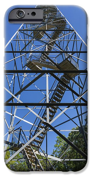 High Park Wildfire iPhone Cases - Fire Watch Tower Elba 2 iPhone Case by John Brueske