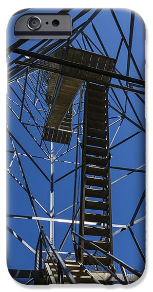 High Park Wildfire iPhone Cases - Fire Watch Tower Elba 3 iPhone Case by John Brueske