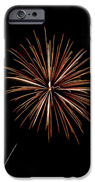 4th July Photographs iPhone Cases - Fire Works iPhone Case by Gary Langley