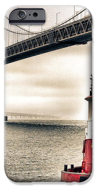 Fireboat and Bay Bridge HDR iPhone Case by Jarrod Erbe