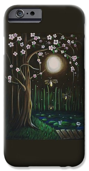 Youthful iPhone Cases - Fireflies Of Our Youth iPhone Case by Teresa  Pascos