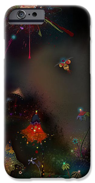 Firefly Me To The Moon iPhone Case by Bernie  Lee