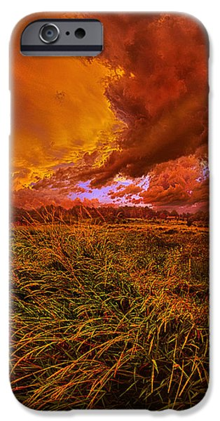 Summer Storm iPhone Cases - Firelight iPhone Case by Phil Koch