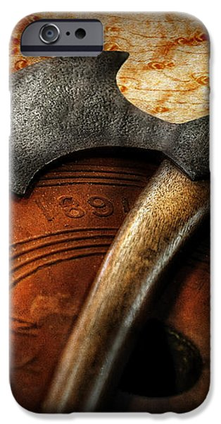 Fireman - The fire axe  iPhone Case by Mike Savad