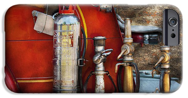 Axes iPhone Cases - Fireman - An Assortment of Nozzles iPhone Case by Mike Savad