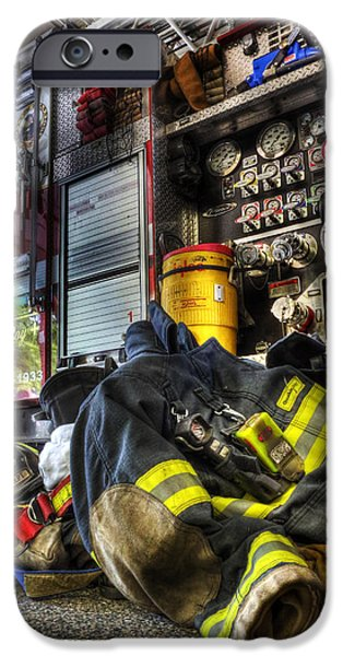 Lee Dos Santos iPhone Cases - Firemen Always Ready for Duty - Fire Station - Union New Jersey iPhone Case by Lee Dos Santos