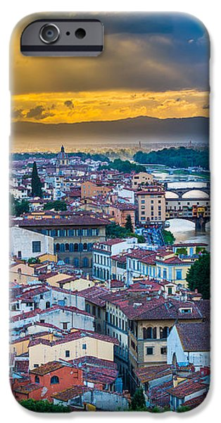 Firenze Sunset iPhone Case by Inge Johnsson