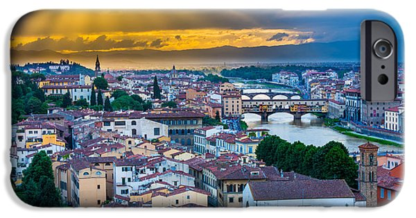 Tuscan Sunset iPhone Cases - Firenze Sunset iPhone Case by Inge Johnsson