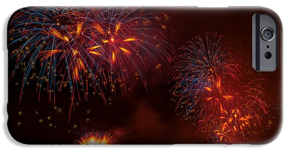 4th July iPhone Cases - Firework 3 iPhone Case by Anakin13