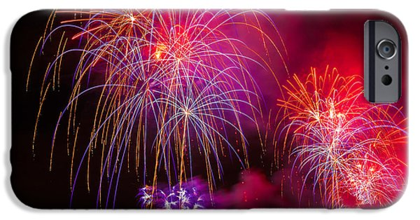 4th July iPhone Cases - Firework 4 iPhone Case by Anakin13
