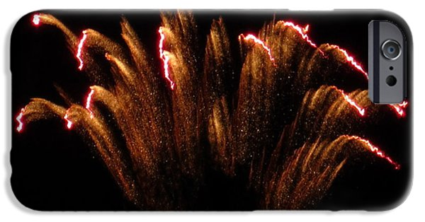 Fireworks iPhone Cases - Firework Dust Storm iPhone Case by Adrienne Wilson