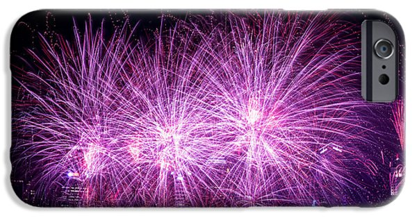 Fourth Of July iPhone Cases - Firework iPhone Case by Jijo George