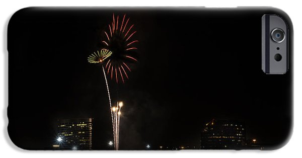 Fireworks iPhone Cases - Firework1 iPhone Case by Liang Li