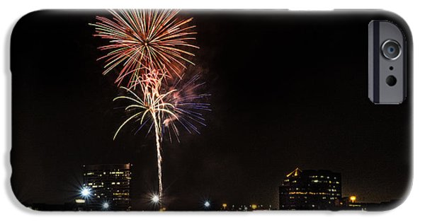 Fireworks iPhone Cases - Firework2 iPhone Case by Liang Li