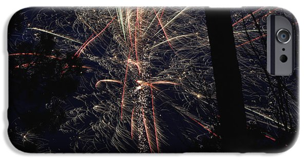 4th July Photographs iPhone Cases - Fireworks #1 iPhone Case by Veronika Wright