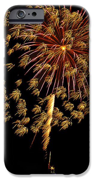 Independance Day iPhone Cases - Fireworks 10 iPhone Case by Bill Barber