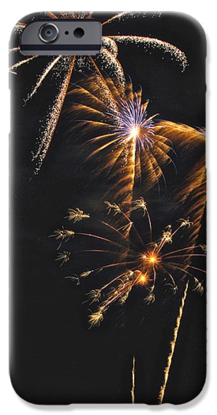Fireworks 3 iPhone Case by Michael Peychich