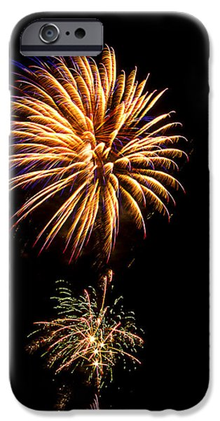 Independance Day iPhone Cases - Fireworks 4 iPhone Case by Bill Barber