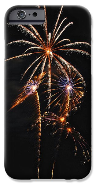 Fireworks 5 iPhone Case by Michael Peychich