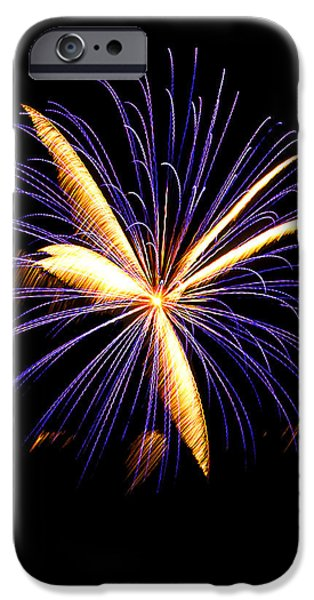Independance Day iPhone Cases - Fireworks 6 iPhone Case by Bill Barber