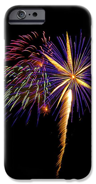 Independance Day iPhone Cases - Fireworks 8 iPhone Case by Bill Barber