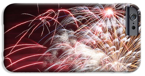 July iPhone Cases - Fireworks Abstract 37 2015 iPhone Case by Mary Bedy