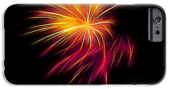 4th July iPhone Cases - Fireworks Abstract Nbr 1 iPhone Case by Scott Cameron