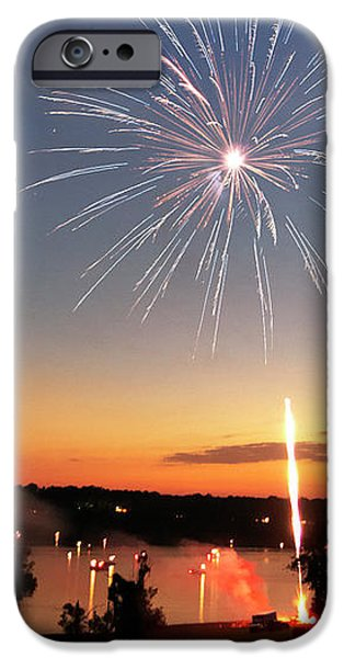 Fireworks and Sunset iPhone Case by Amber Flowers