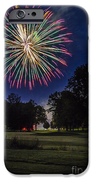 4th July Photographs iPhone Cases - Fireworks Beauty iPhone Case by Joann Long
