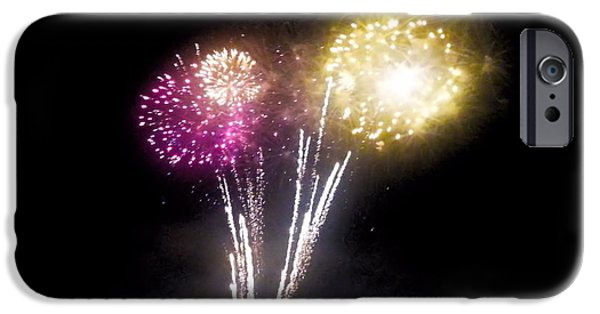 July 4th iPhone Cases - Fireworks Display iPhone Case by Shelly Dixon