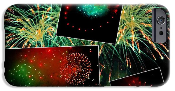 4th July Photographs iPhone Cases - Fireworks For Home Decor iPhone Case by Constance Lowery