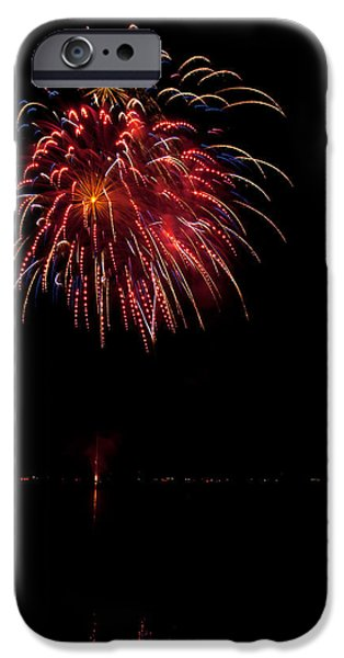 4th July Photographs iPhone Cases - Fireworks II iPhone Case by Christopher Holmes