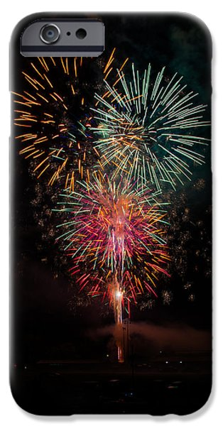 4th July Photographs iPhone Cases - Fireworks iPhone Case by Jan M Holden