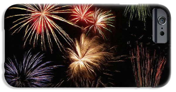 4th July iPhone Cases - Fireworks iPhone Case by Jeff Kolker